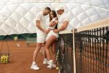 Female tennis player Amirah Adara fucking 2 guys on the court  1155234