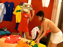 Two sporty lesbian teens