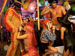 Hot and horny Halloween party