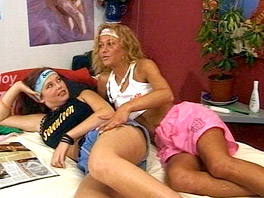 Valerie and Lena making love