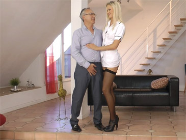 Naughty Nurse in Nylons