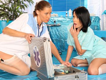 Horny young nurses