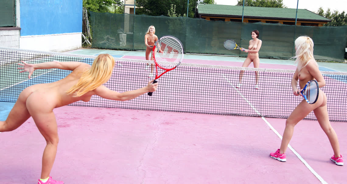 Teen catfight at the tennis court