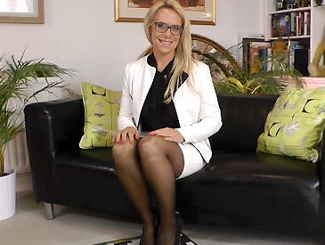 Sexy Secretary In Seams