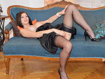 Seamed Stockings & Heels