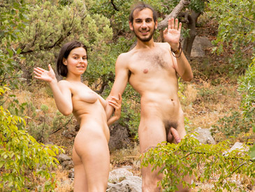 Hairy couple enjoy fucking outdoors