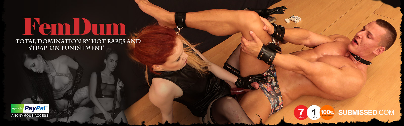 Commit female domination strap on chastity that