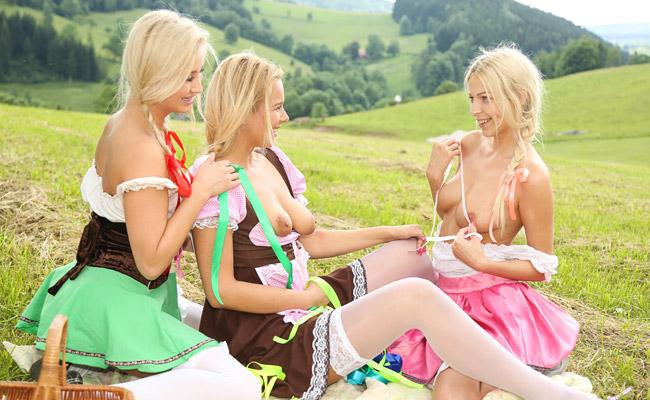 orgasmic threesome picnic